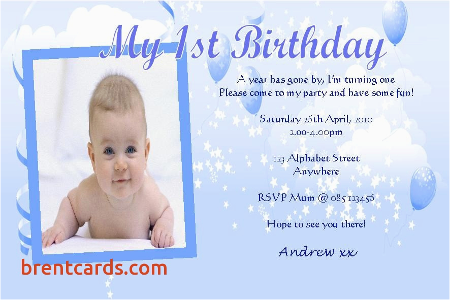 Sample Of Birthday Invitation Cards 1 Year Old Sample Of Birthday