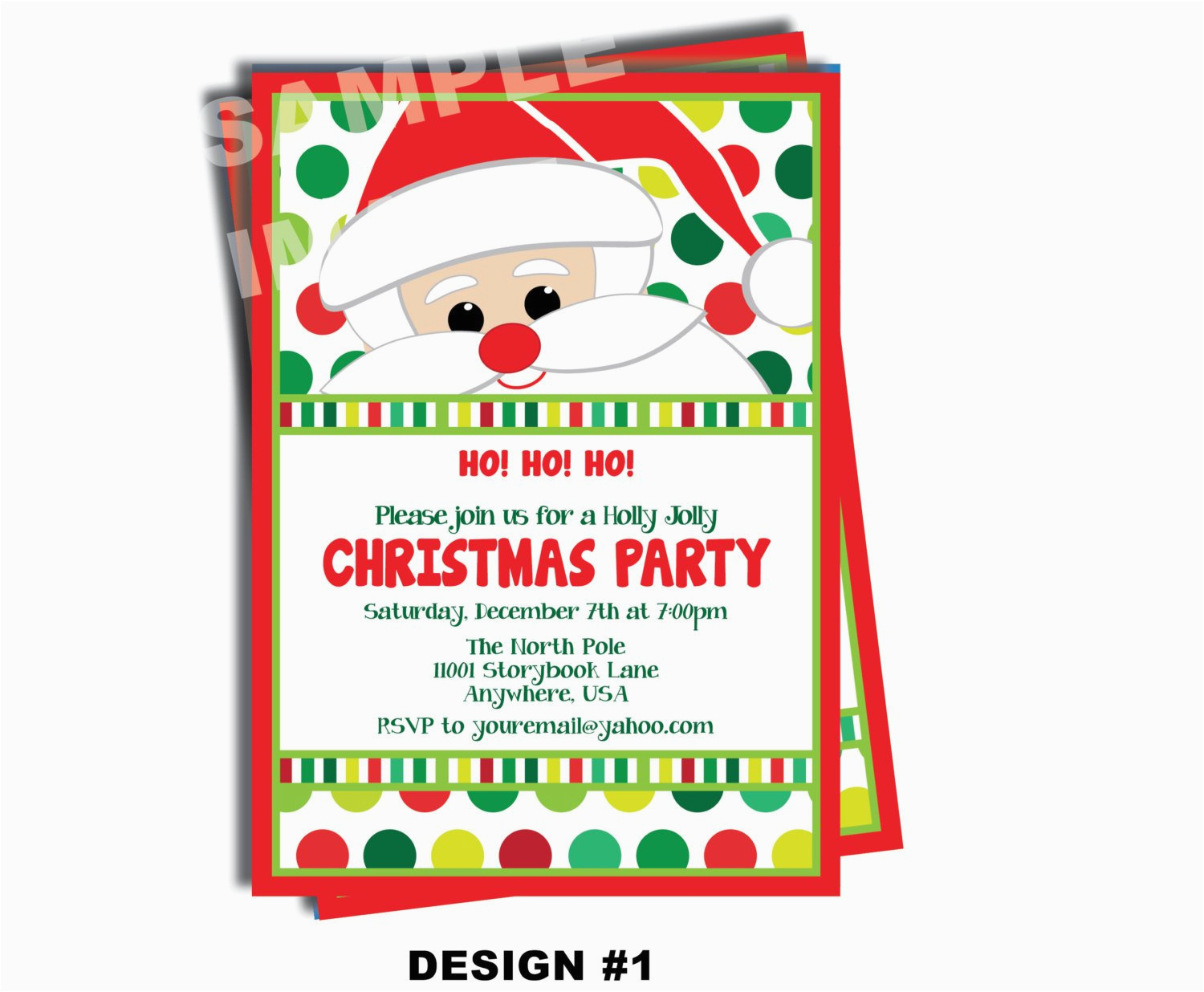 santa claus invitation santa birthday