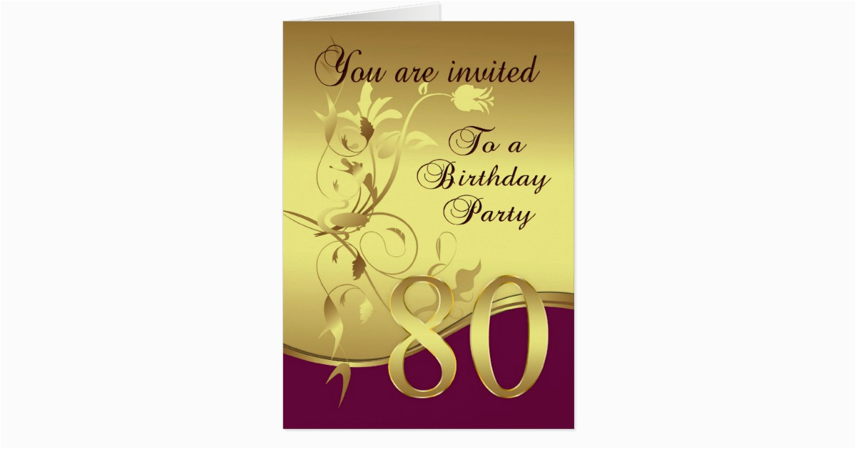 80th birthday party invitation zazzle com