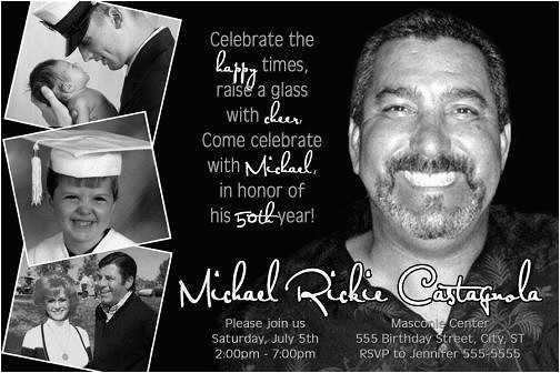 Save The Date 80th Birthday Invitations Classic Black White 50th Invitation 40th 60th