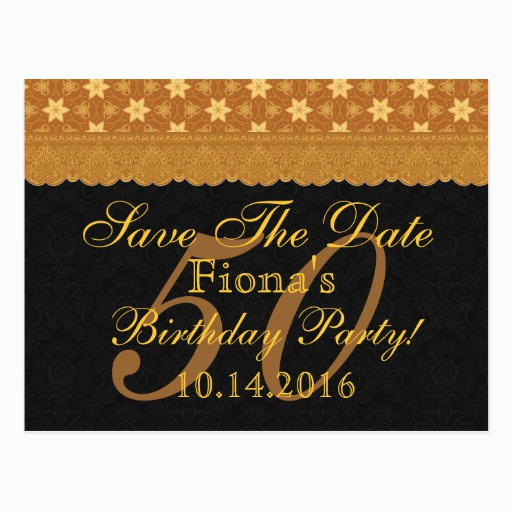 Save The Date Birthday Cards Free 50th Postcards For 2018