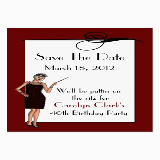 birthday save the date cards large business cards pack of