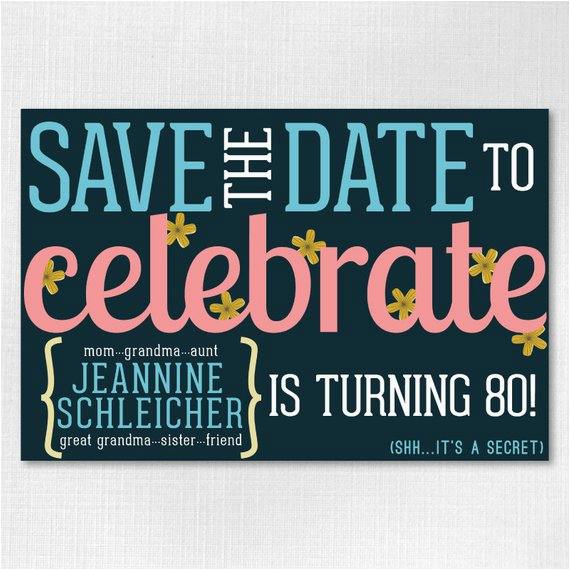 Save The Date Birthday Cards Free Custom 4x6 Downloadable Flowery