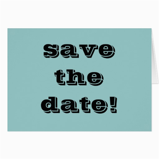 quot save the date quot greeting card zazzle