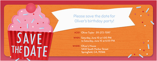Save The Date Birthday Invite Invitations Free Ecards And Party Planning Ideas From Evite