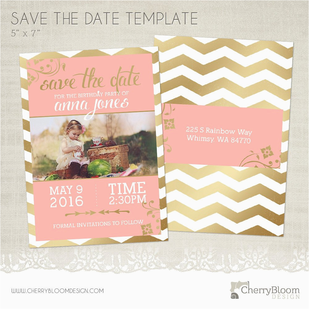 Save the Date Cards for Birthday Birthday Save the Date Card Template for Photographers Bd02
