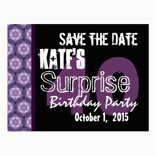 save the date surprise party postcards
