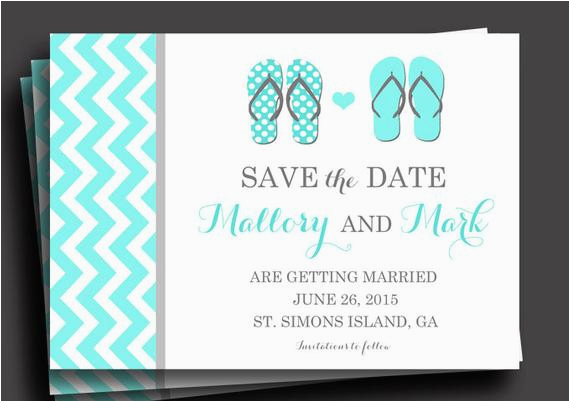 flip flop invitation printable customized event