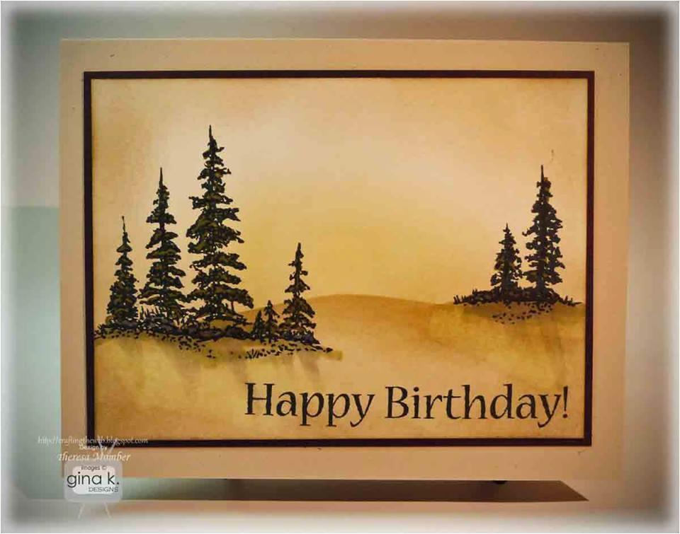 softly scenic birthday card