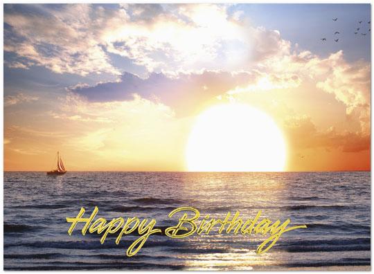 Scenic Birthday Cards Sunset Sail Birthday Card Scenic Birthday Cards Posty