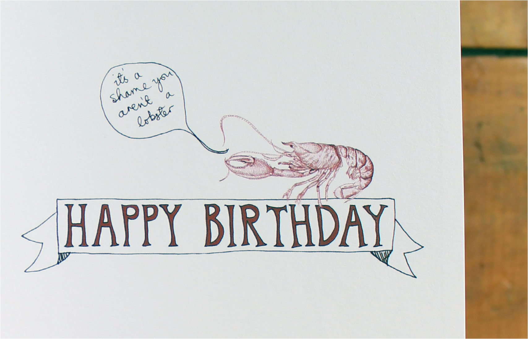 lobsters are immortal a science birthday card we are