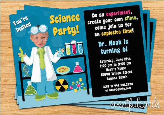mad science birthday party invitations oxsvitation com