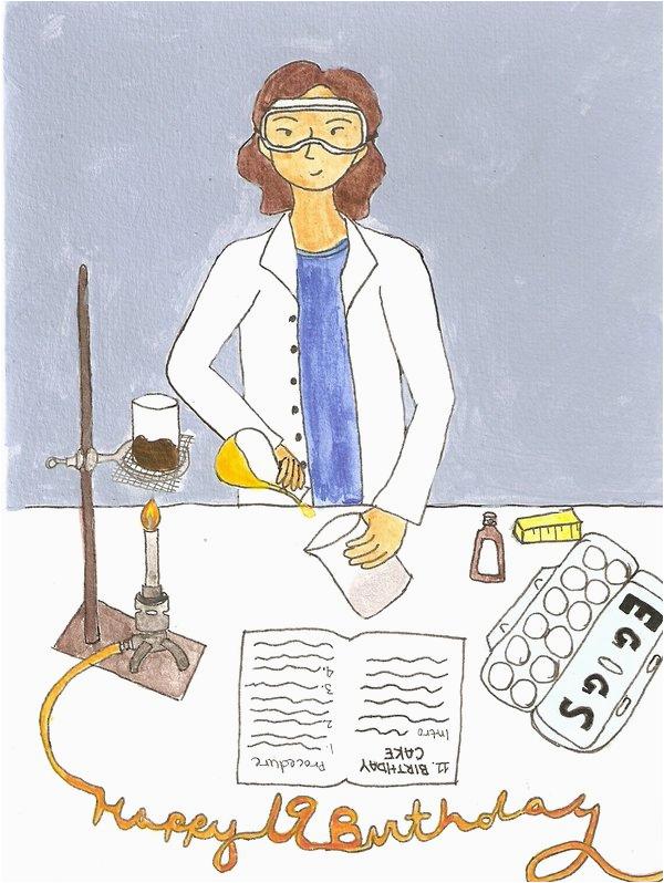 scientist 39 s birthday card by stillworkingonit on deviantart