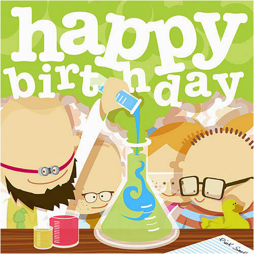 Scientist Birthday Card Scientists Birthday Card by Showler and Showler