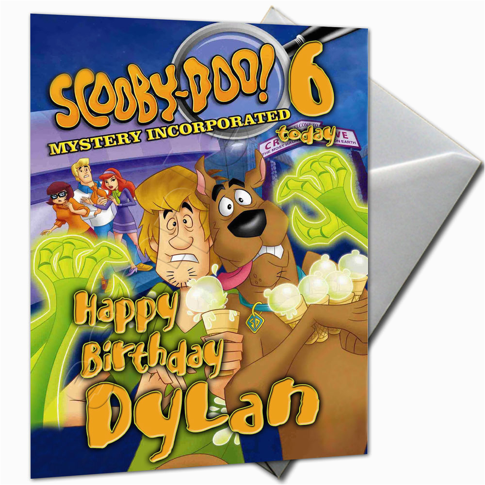 Scooby Doo Birthday Cards Personalised Card Large A5