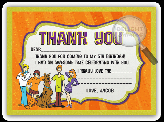 scooby doo thank you cards di 329ty harrison greetings