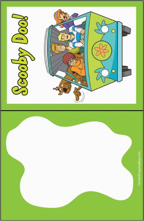 scooby the gang invitation printables pinterest