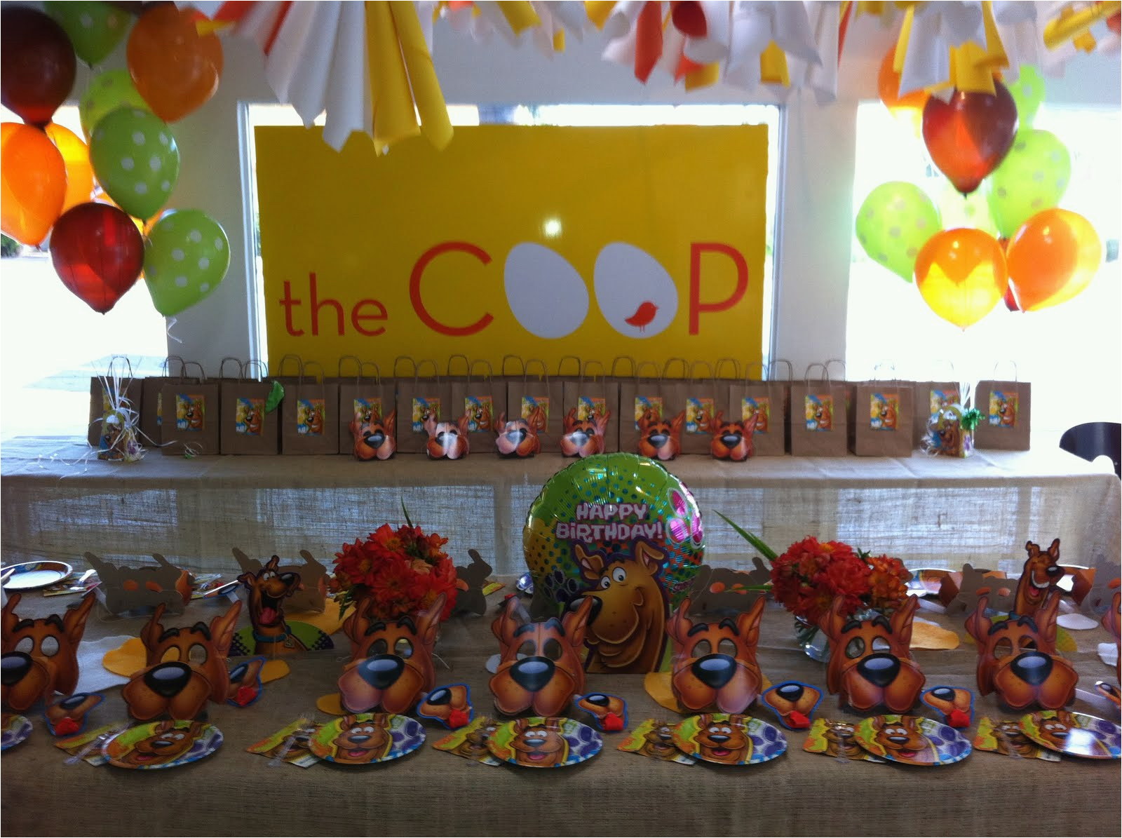 Scooby Doo Birthday Decorations Scooby Doo Birthday Party theme Criolla Brithday Wedding
