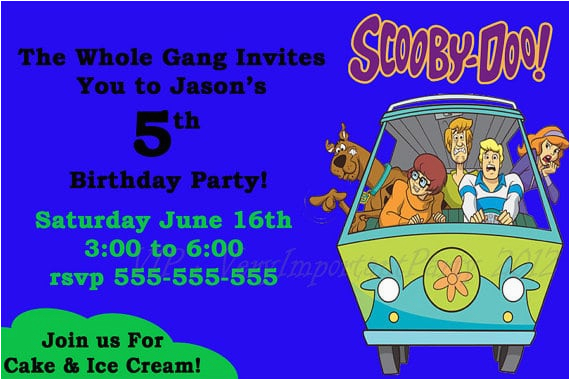 Scooby Doo Birthday Invites Free Scooby Doo Birthday Invitation
