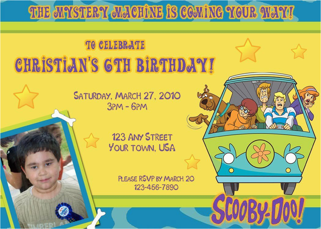 scooby doo birthday party invitations