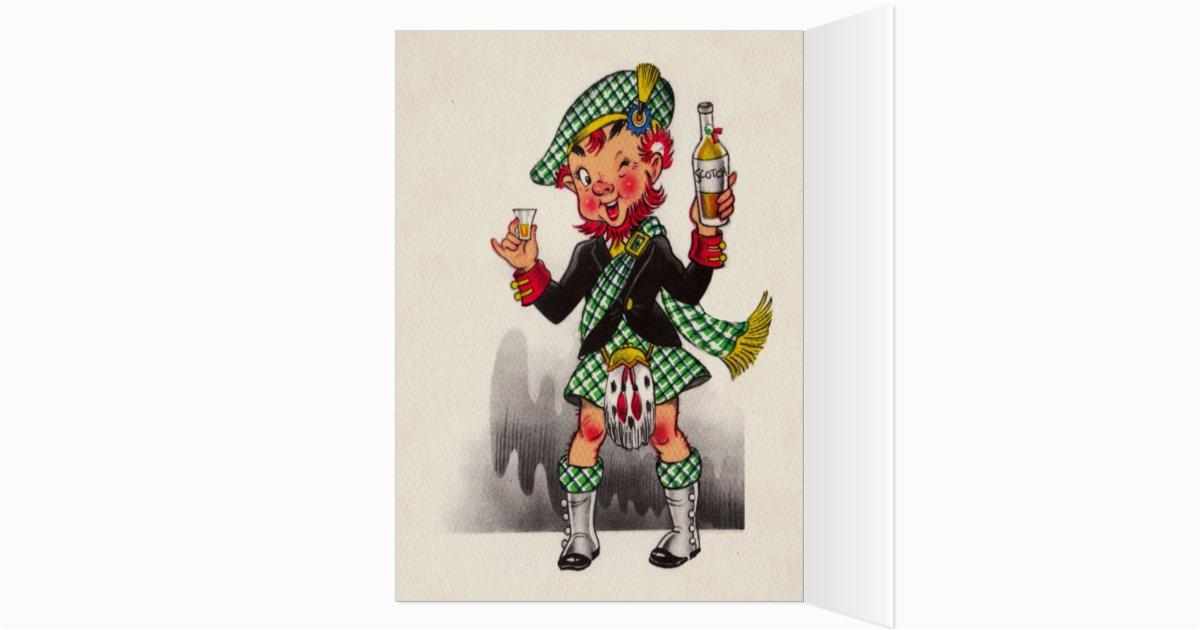 funny scottish birthday card zazzle