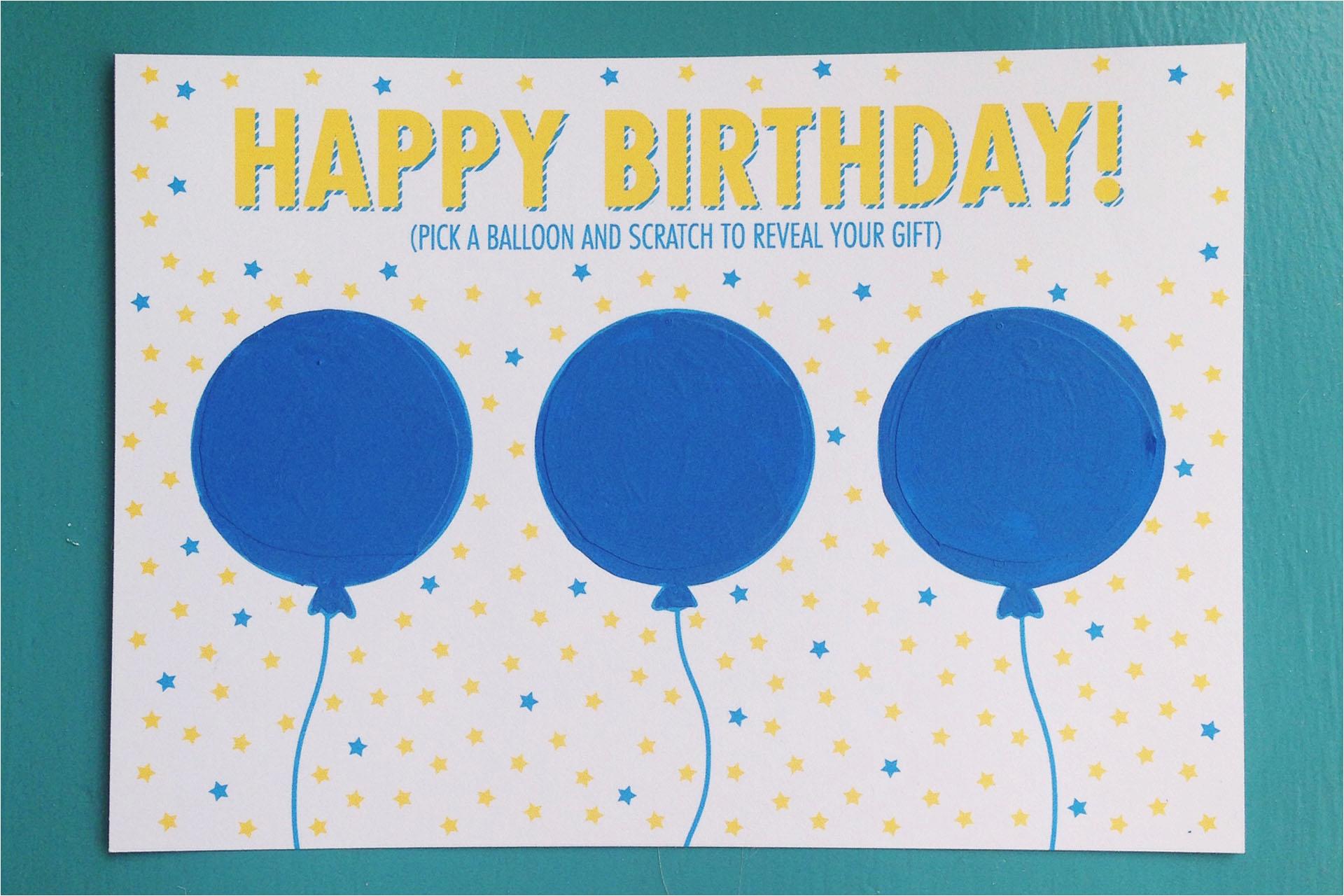 diy birthday scratch off card free printable respond