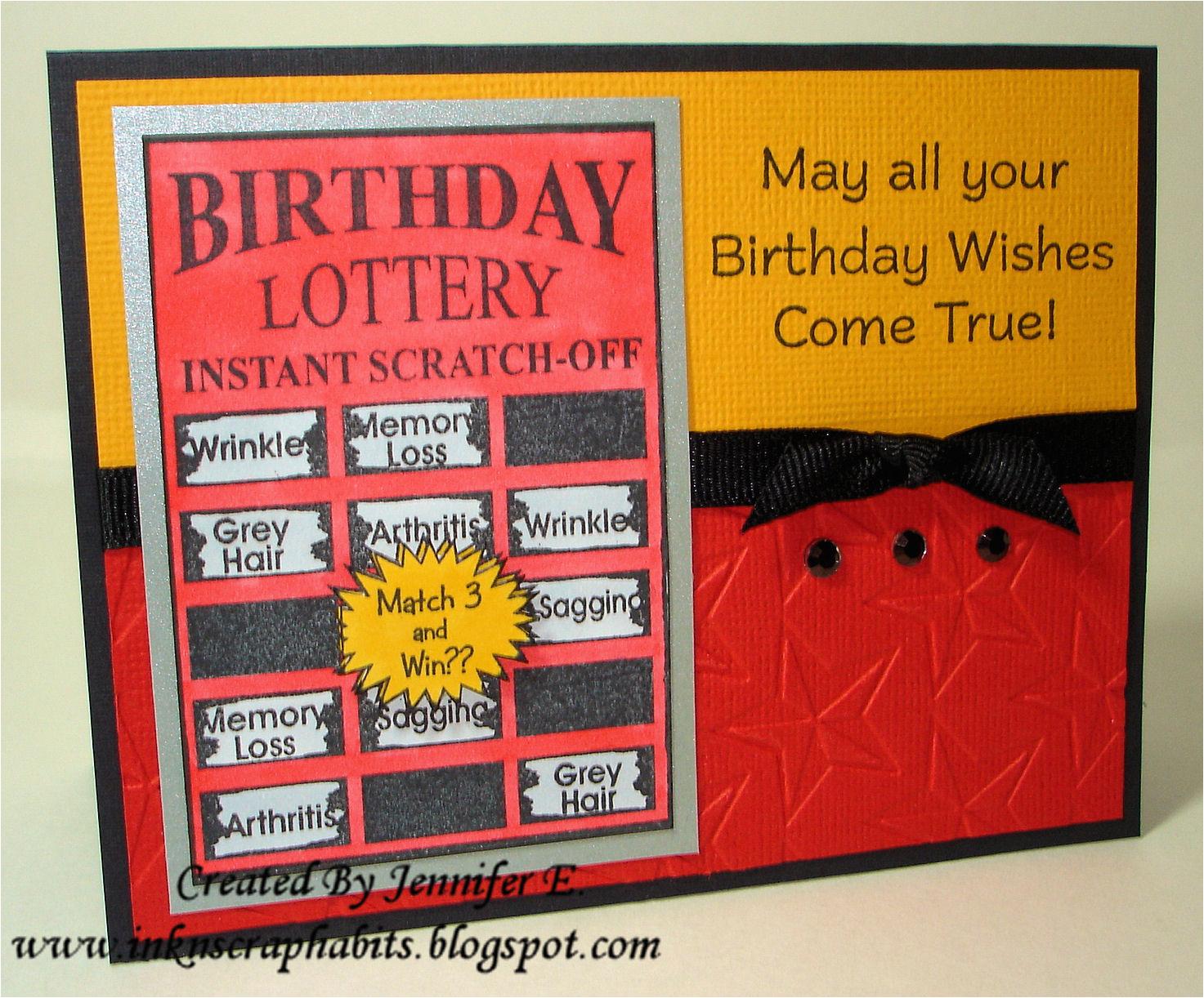 birthday lottery ticket