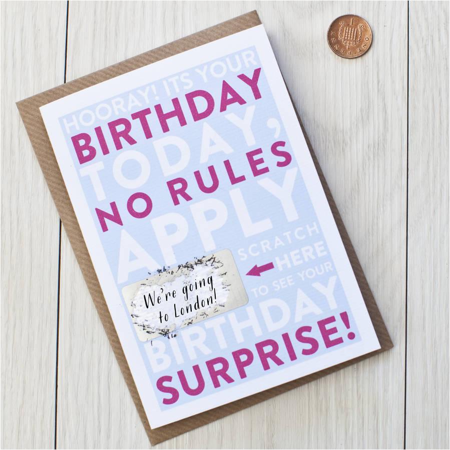 scratch off birthday surprise card