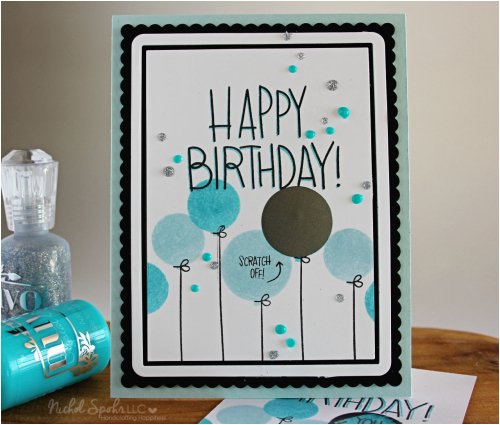 simon says stamp september card kit happy birthday scratch off card giveaway