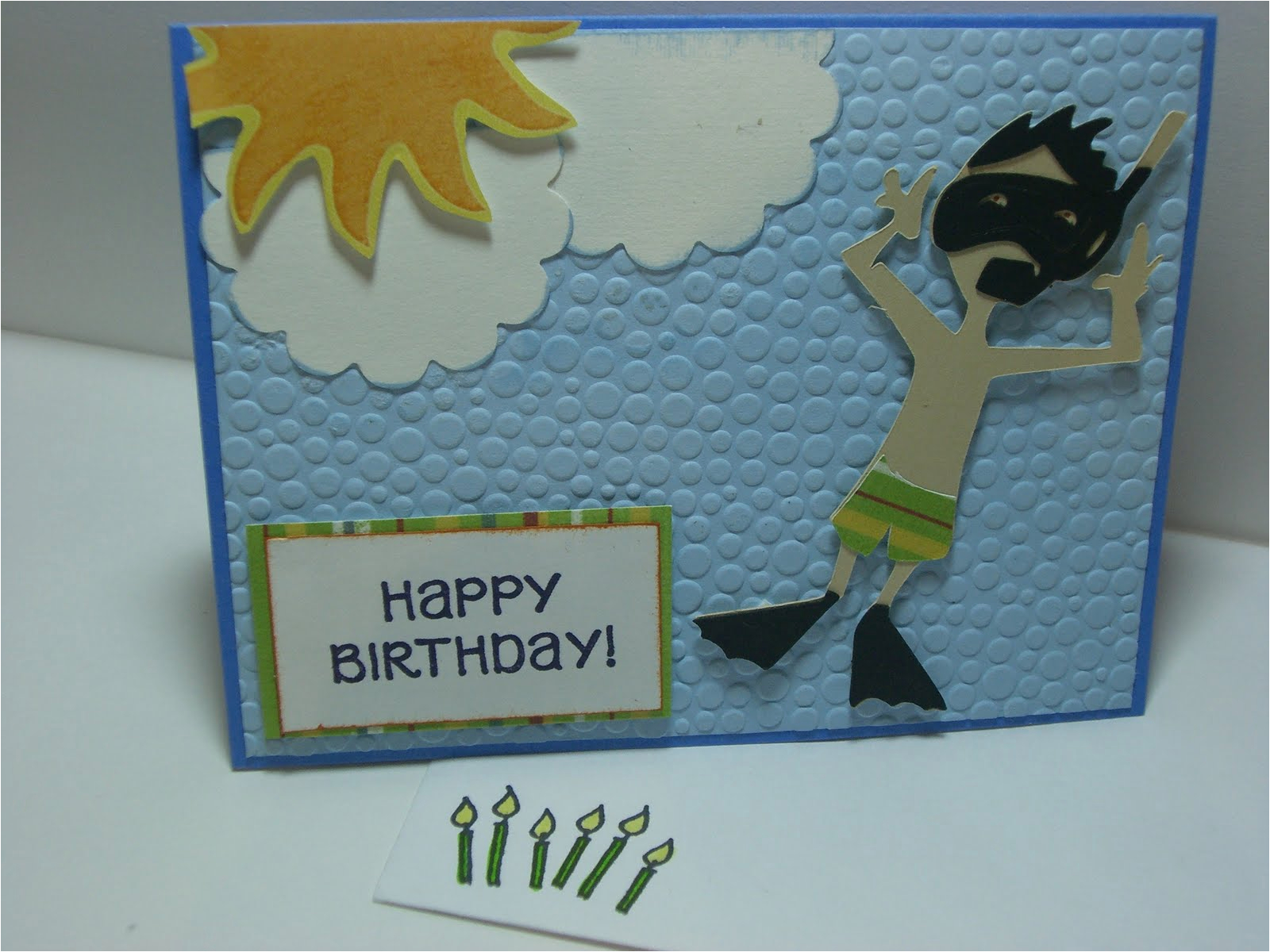scuba diver birthday card