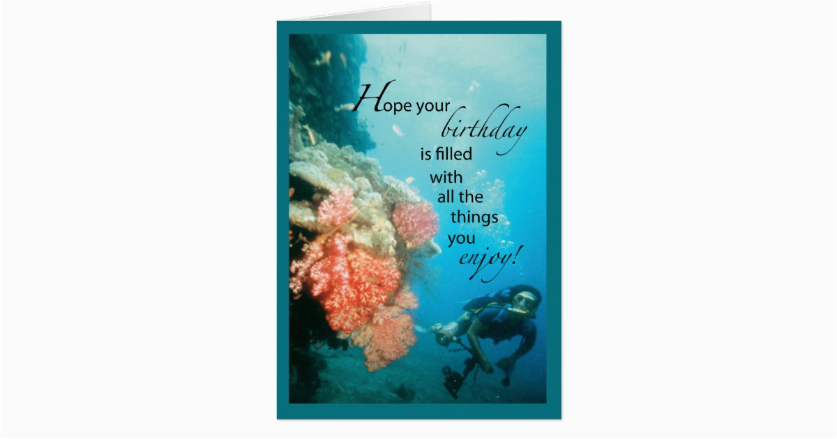scuba diving birthday card 137335012355890891