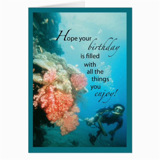 Scuba Diving Birthday Cards Scuba Diving Birthday Card Zazzle Com