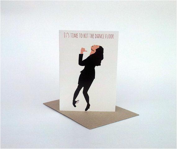 greeting card seinfeld birthday card elaine dance
