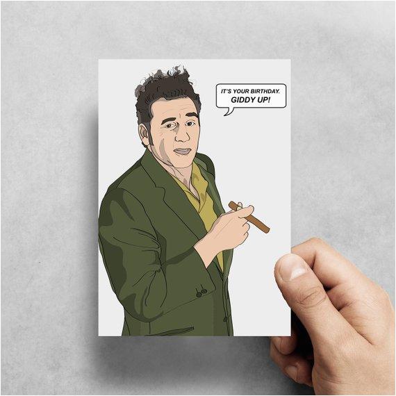 kramer seinfeld funny greeting card birthday pop