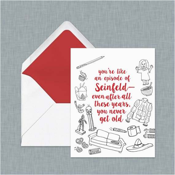 seinfeld birthday card for the ultimate seinfeld fan