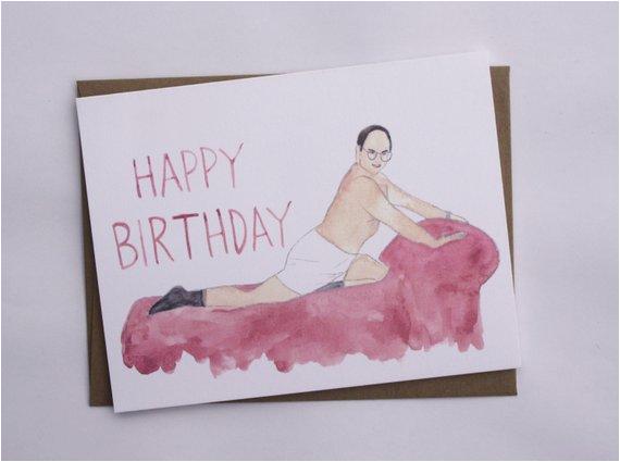 seinfeld birthday george costanza card by averycampbellart