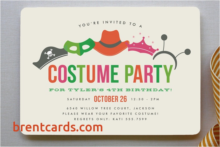 Free Birthday Cards To Send Via Email Beautiful Costume Party Children S Invitation