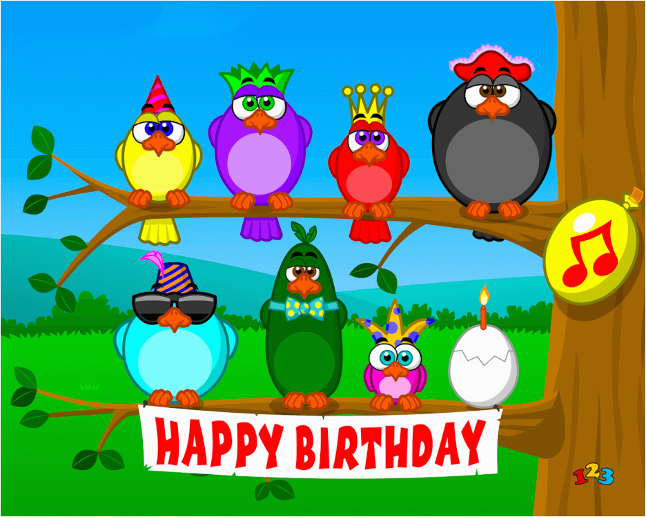 Send A Singing Birthday Card Birds Free Ecards From 123cards Com