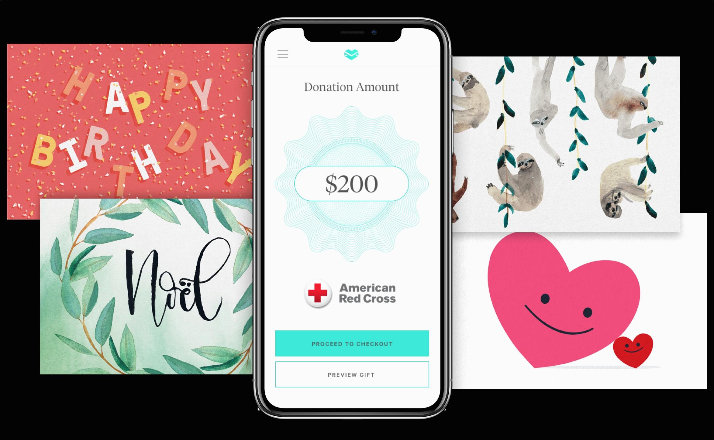 send birthday card to cell phone