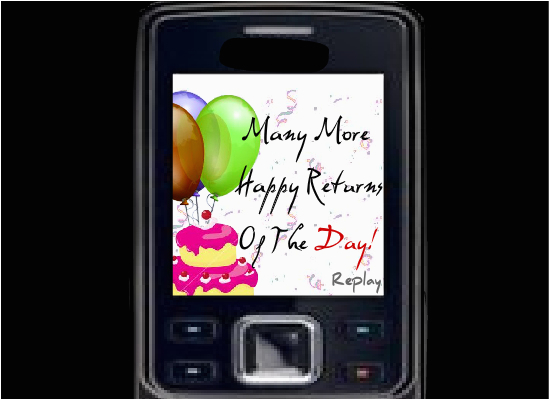 Send Birthday Card To Cell Phone Wishes Through Mobile Free Happy Ecards