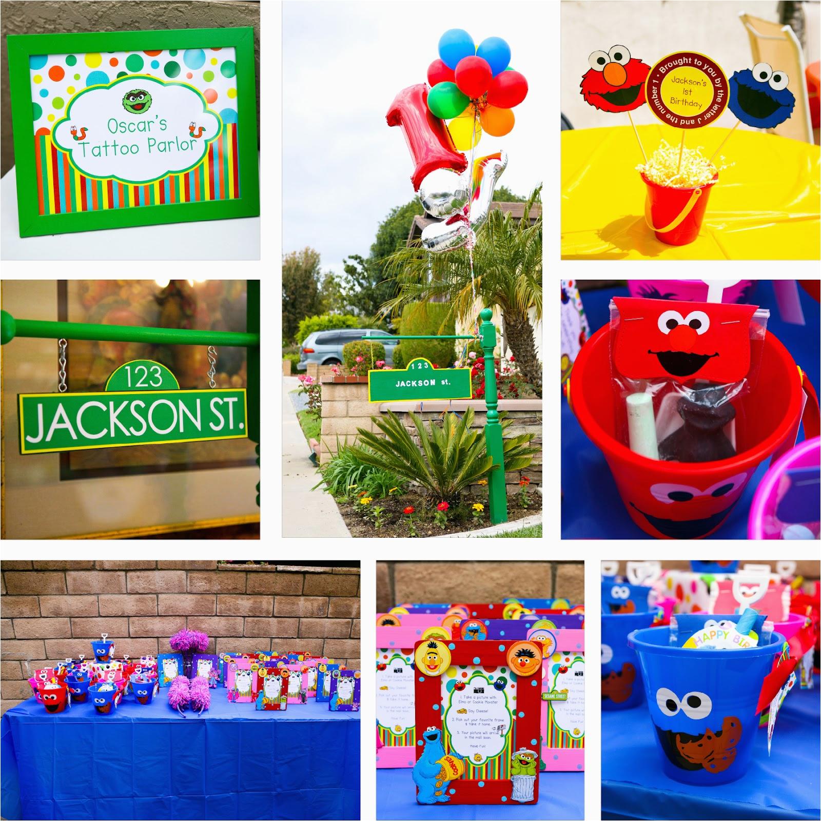 sesame street party jacksons 1st