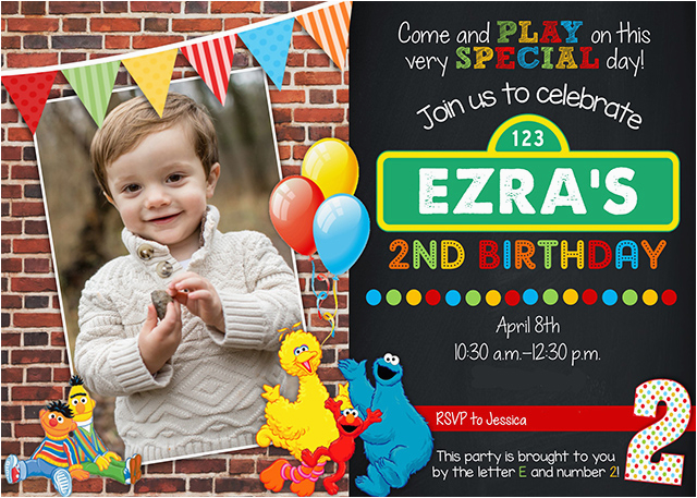 Sesame Street 2nd Birthday Invitations A Perfect Party For Two Year Old
