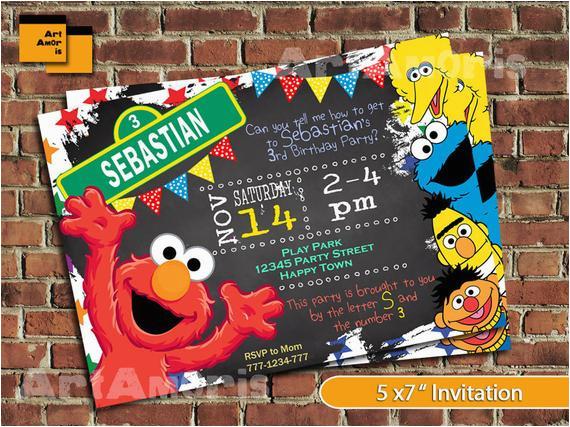Sesame Street 2nd Birthday Invitations Elmo Invitation Elmo Birthday