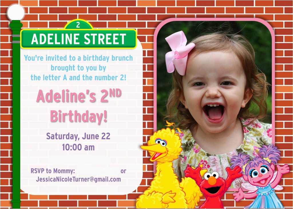 Sesame Street 2nd Birthday Invitations Birthdaybuzz