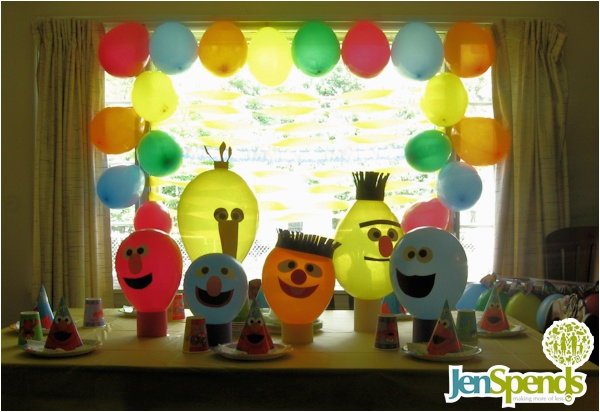 Sesame Street Birthday Decoration Ideas Inexpensive First Theme Decorations