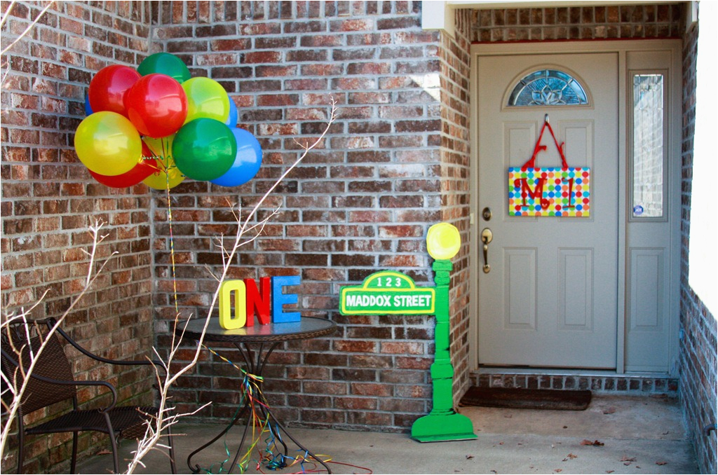 Sesame Street Birthday Decoration Ideas First Decorations