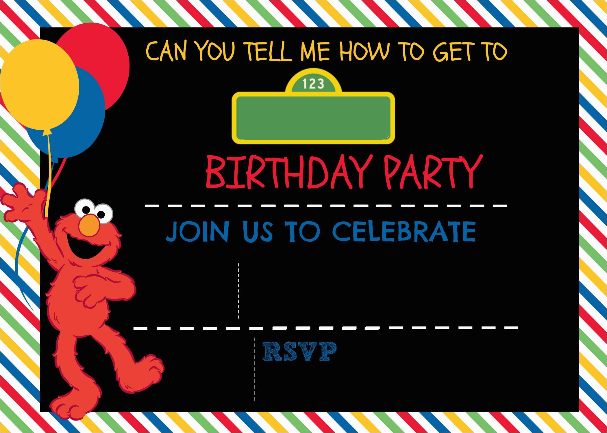 make sesame street digital invitation includes free template