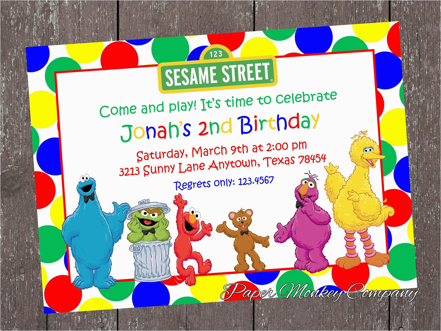 collectionsdwn sesame street invitations template
