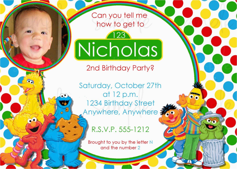 Sesame Street Birthday Invites Sesame Street Birthday Invitation