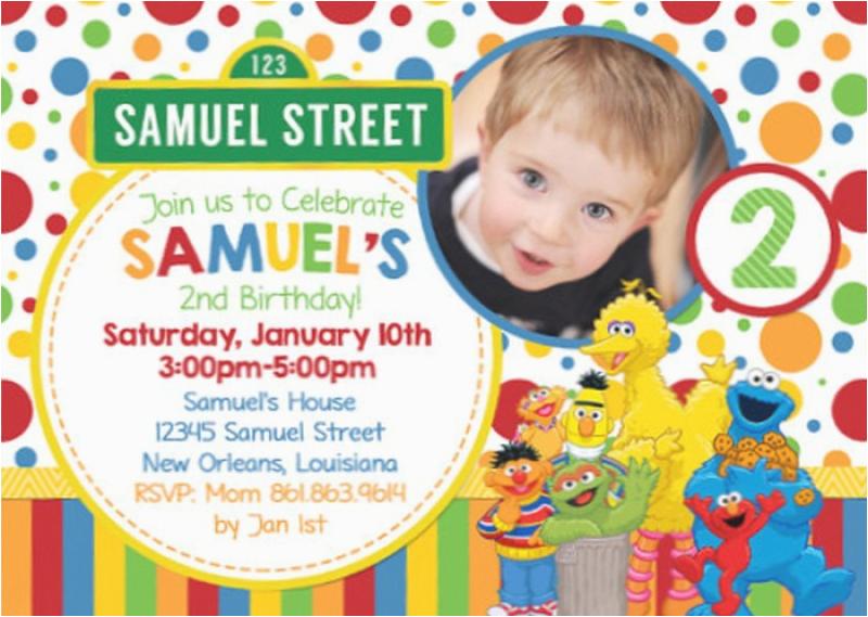 personalized sesame street invitation